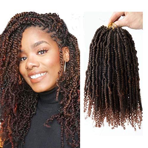 Flyteng spring twist hair 1b/30 Synthetic Crochet Braids Bomb Twist Hair Senegalese Spring Twist crochet hair curl end…
