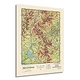 Historix Vintage 1959 Rocky Mountain National Park Map –