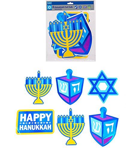 6 count Hanukkah Paper Cut-Outs (Units per case: 48)