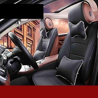 JKHOIUH Universal Fit Full Set Funda de asiento de coche de fibra de tela plana, Fit Volkswagen Passat Magotan Malibu Funda de asiento Conjunto combinado General Motors Cover Funda de asiento de coche