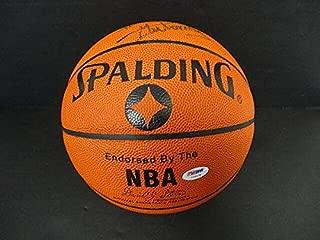 dikembe mutombo autographed basketball