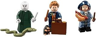 LEGO Harry Potter Minifigures Voldemort, Newt Scamander, and Tina Goldstein Collectible Figures
