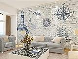 YiShuQiang Wallpaper Fototapeten Mediterranes Kinderzimmer 3D Tapetens Wandbilder Wohnzimmer Schlafzimmer Büro Flur Dekoration Fototapetens