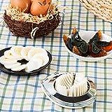 KJHG Tagliauovo in Acciaio Inox Fantasia Multifunzionale in Pelle di Petalo d'uovo Cucina Aperta Uovo