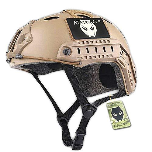 ATAIRSOFT PJ Type Tactical Paintball Airsoft Fast Helmet DE Tan