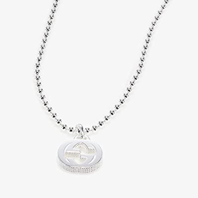 Gucci 45cm Interlocking G Necklace (Silver) Necklace