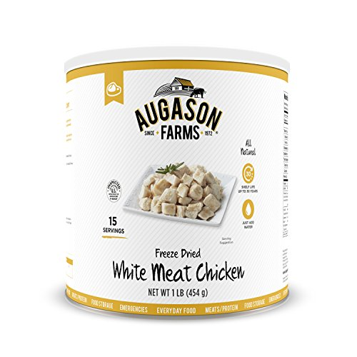 Augason Farms Freeze-Dried White Meat Chicken 100% Real Precooked Chicken...