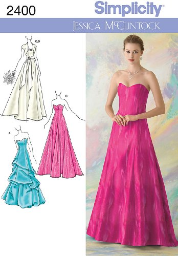 Simplicity Sewing Pattern 2400 Misses Special Occasion Dresses, D5 (4-6-8-10-12)