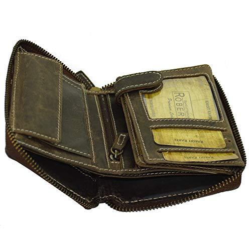 Portemonnaie Vintage Design mit rundum Reißverschluss