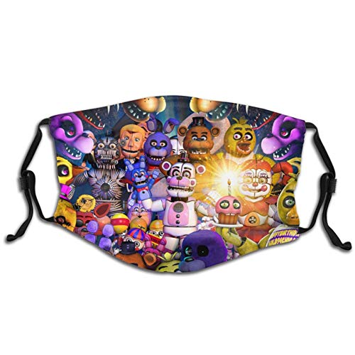 FELDFUNK Boys Girls Kids FNAF Face Cover Mask Washable Reusable Filter and Reusable Mouth Warm Windproof Face Cover