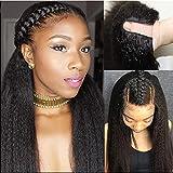 Kinky Straight Wig U Part Human Hair Wigs 20 Inch 1.5×4 U Shape Kinky Straight Half Wig For Black Women 150% Density Clip in Remy Hair Kinky Straight U Part Wig Natural Black Color