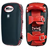 Twins Special Muay Thai Boxing Kicking Kick Pads Belt KPL-1 (Belt Black/Red,Large)