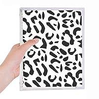 ヒョウ柄アニマルアート粒イラストパターン 硬質プラスチックルーズリーフノートノート