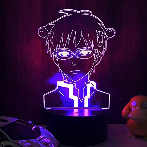 Anime Light The Disastrous Life of Saiki K Led Night Light Colorful Nightlight Anime Gift 3d Lamp Saiki K for Bedroom Decoration