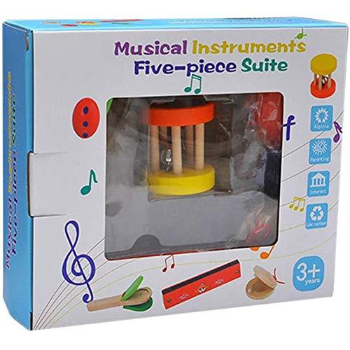 5-delige baby rammelaar hand klok rammelaar castagnetten Developmental speelgoed voor baby Kinderen Kinderen,Blue