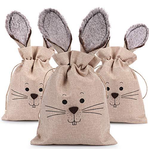 3 Pack Easter Burlap Bags