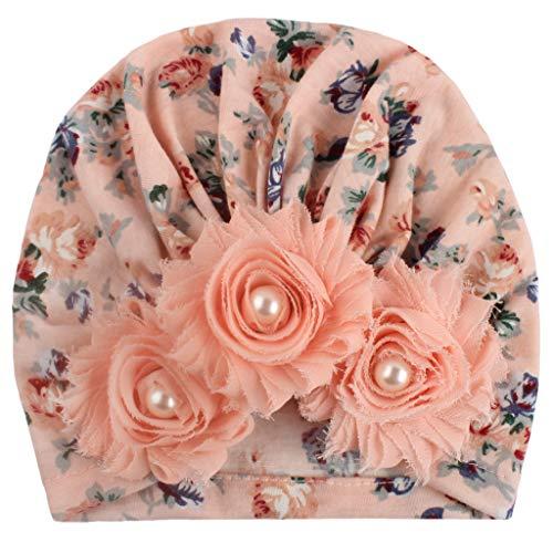 Baby Fashion Sonnenhut für Neugeborene, Mütze mit Blumenmuster, warm, für Mädchen und Jungen, für Neugeborene Gr. M, h