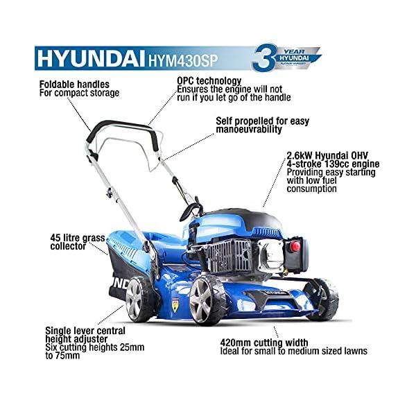 Hyundai HYM430SP Petrol Lawn Mower 42cm