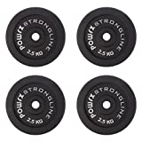 POWRX Discos pesas hierro fundido 10 kg set (4 x 2,5 kg) - Ideales para mancuernas y...