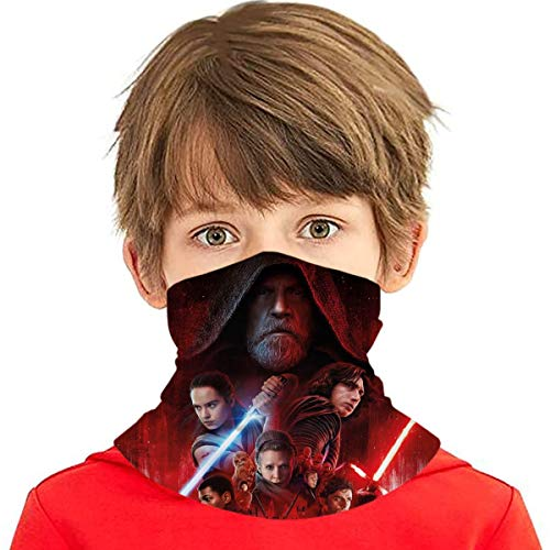 Kids Star Wars Face Mask Bandanas Scarf Balaclava Full-Coverage Tube Neck Gaiter Headband Multifunction Face Mouth Cover