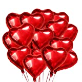 O-Kinee Forme de Coeur Ballons,30 pcs Ballon Coeur Rouge,Ballon Coeur,Ballons de Fleuret,pour Anniversaire,Mariage,Saint Valentin, Douche de bébé,décoration de fête de Noël(Rouge)