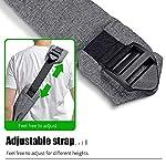 aofook Adjustable Dog Pet Sling Waterproof Carrier Bag with Soft Shoulder Pad Zippered Pocket for Outdoor Travel (Grey, Adjustment) 14