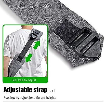 aofook Adjustable Dog Pet Sling Waterproof Carrier Bag with Soft Shoulder Pad Zippered Pocket for Outdoor Travel (Grey, Adjustment) 7