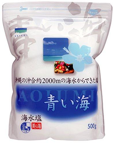 青い海 沖縄の海水塩 青い海 500g