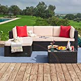 Tuoze 5 Pieces Patio Furniture Sectional Outdoor...