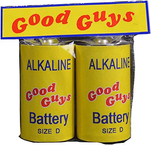 Réplica baterías Good Guys. Muñeco diabólico 2. Escala 1:1. Tamaño real. Trick Or Treat Studios