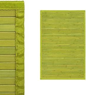 Alfombra de Salón o Comedor, Verde Pistacho, de Bambú Natural 60 X 90cm, Natur 60 X 90 -Hogar y Más