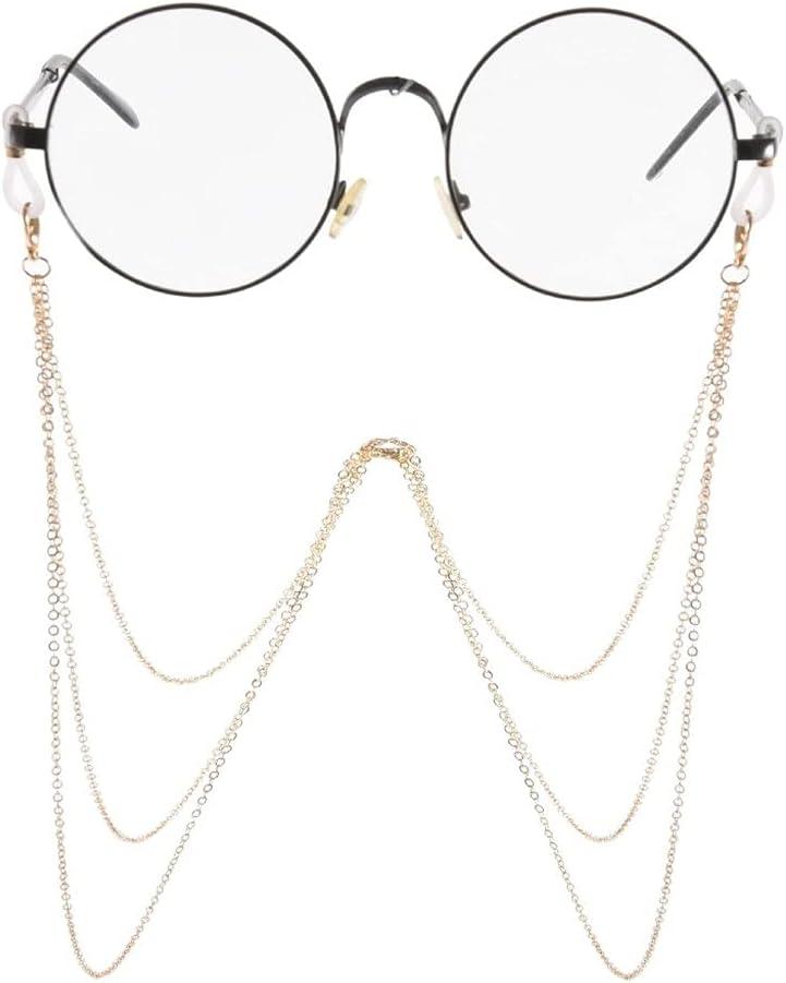 ZYKBB Lanyard Multi-layer Tassel Glasses Chain Fashion Glasses Strap Sunglasses Cords Casual Glasses Accessories (Color : A, Size : Length-70CM)