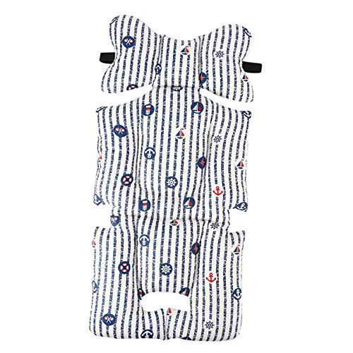 Regalos de abril Cómodo cojín para cochecito infantil, cojín para cochecito, algodón grueso de alta calidad para bebés de 0 a 15 meses(Striped boat)