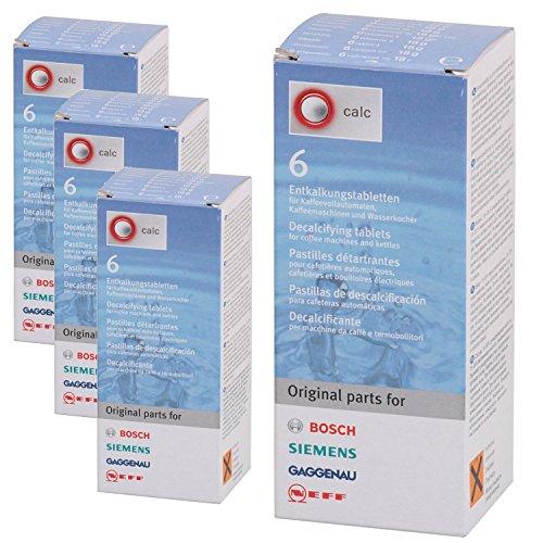 Originele BOSCH Descaler tabletten voor Delonghi koffiemachine & waterkoker (Pack van 24)