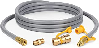 """DEPFALL 3/8"""" Natural Gas Hose with Quick Connect, 12 Feet Propane to Natural Gas Conversion Kit Natural Gas Line Hose for ..."""