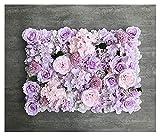 YINGNBH Rosas Artificiales Panel de Pared de Flores Seda Rosa Peonía Hydrangea Flores Artificiales de la Pared para el hogar Fondo de Boda Decoración de la decoración del Hotel (Color : D)