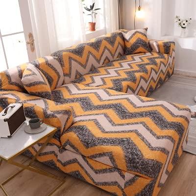 ASCV Einfarbige elastische Sofabezug Spandex Modernes Polyester-Ecksofa Couch Schonbezug Stuhlschutz Wohnzimmer A17 1-Sitzer