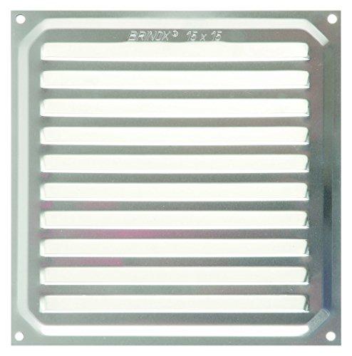 Brinox B70220A Rejilla de ventilación, Aluminio, 15 x 15 cm