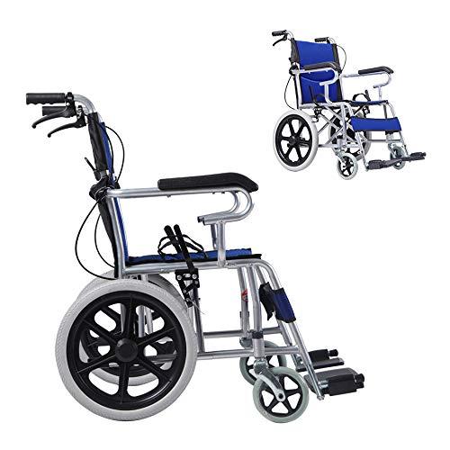 YH-LY Rollstuhl faltbar, 12kg ultraleichter Faltbarer Rollstuhl, for Ältere Behinderte Hilfe Auto Rollstuhl mit Trommelbremse Transportrollstuhl