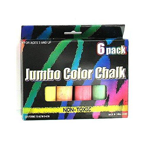 72 Packs of Jumbo chalk (pack of 6)
