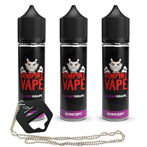 Wizard Vapes Multipack - Vampire Vape New Koncept All Day Grape 3 x 50ml Shortfill E-Liquid + Wizard...
