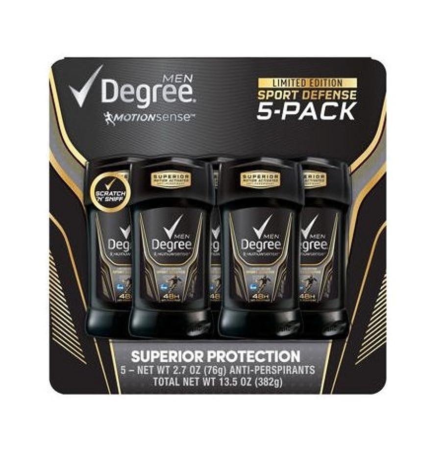 時代遅れ弾力性のあるプログラムDegree Adrenaline Invisible Solid Antiperspirant deodorant 5ct(2.7oz x 5) by Degree