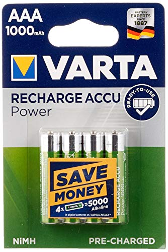 Varta 43471 Ready to Use AAA (Micro)/HR03 (5703) Blister LSD-NiMH - Batería (Ready-to-use, 1,2 V), Pack de 5 piezas (5 x 40 piezas)