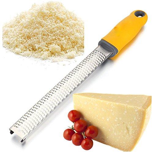 Homeself 304 - Grattugia per limone, formaggio, zenzero, aglio, noce moscata, agrumi, spezie, cioccolato Giallo