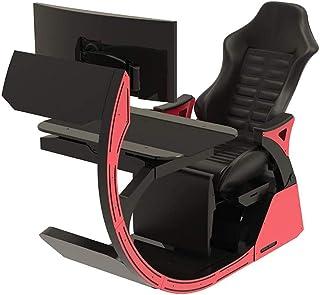 SMLZV Sillas de Oficina, Sillas de vídeo del Juego del Juego de Ordenador Silla ergonómica de la carlinga Happy-Chair-Esports-Silla con cómodo Cuello y Lumbar Tiresome
