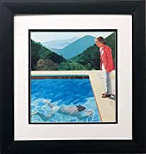 David Hockney Portrait of an Artist Newly Custom Framed Art Print Framed Size Approx. 16.5