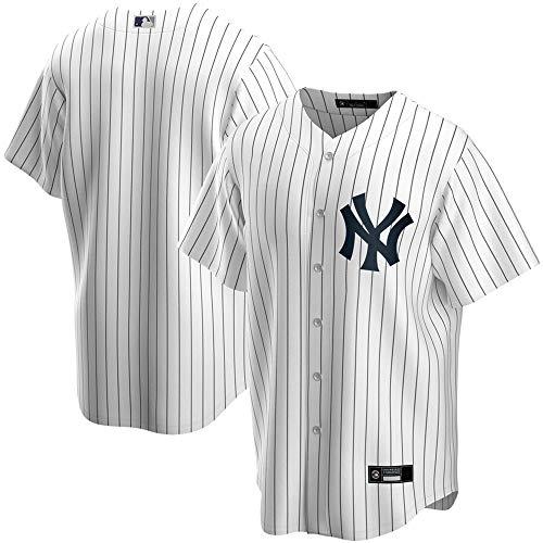 New York Yankees NO.99 GUDGE NO.27 Stanton Herren Baseball Jersey Polyester Stoff Personalisierte Anpassung,white-99,M/40
