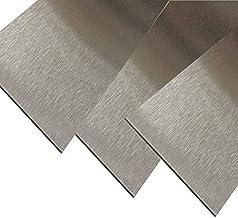 Roestvrij stalen blikken strips V2A geslepen 2 meter lang 0,8 mm dik (80 mm)