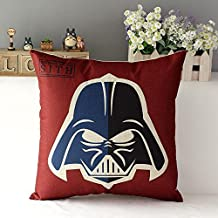 Handmade houseware 18inch Fashion Thick Cotton Linen Fabric Throw Pillow 45cm 120g Star Wars New Home Bar Coffee House Decorative Pillowcase Sofa Back Cushion Cover for Office Nap (Darth Vader)
