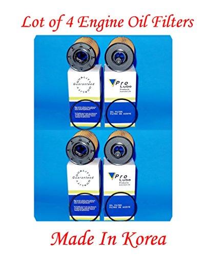 (Lot of 4) Engine Oil Filter SOE8113 / L38113 MADE IN KOREA Fits: AUDI A3 06-13 TT 04-09 VWBEETLE 13-14 CC 09-12 EOS 07-08 EUROVAN 01-03 GOLF 03-14 JETTA 02-14 PASSAT 06-10 R32 2008